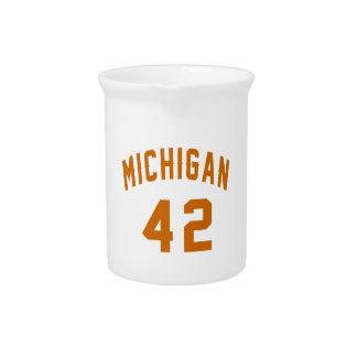 Michigan 42 Birthday Designs Pitcher