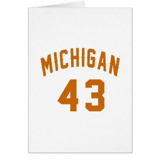 Michigan 43 Birthday Designs Card