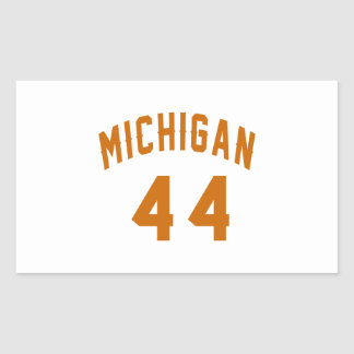Michigan 44 Birthday Designs Rectangular Sticker