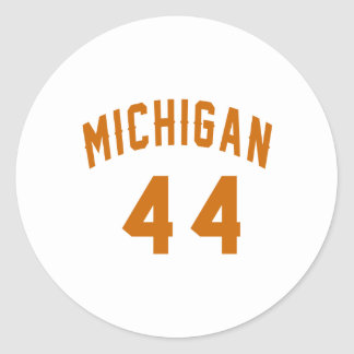 Michigan 44 Birthday Designs Round Sticker
