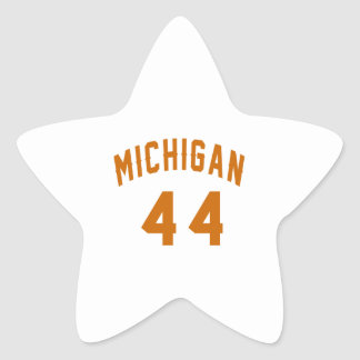 Michigan 44 Birthday Designs Star Sticker