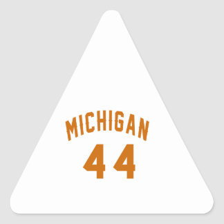 Michigan 44 Birthday Designs Triangle Sticker