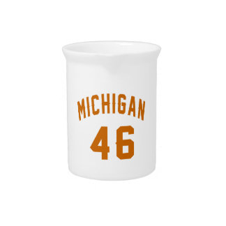 Michigan 46 Birthday Designs Pitcher