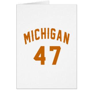 Michigan 47 Birthday Designs Card