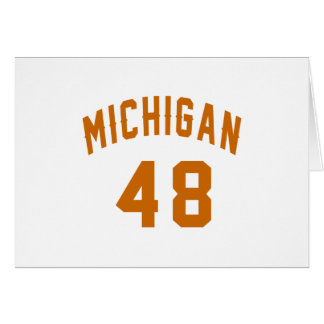 Michigan 48 Birthday Designs Card