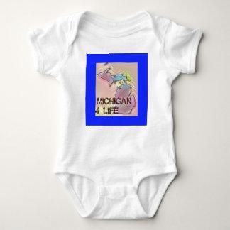 """Michigan 4 Life"" State Map Pride Design Baby Bodysuit"