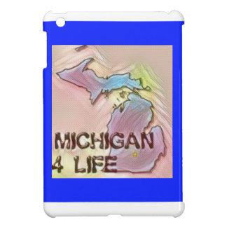 """Michigan 4 Life"" State Map Pride Design iPad Mini Case"