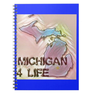 """Michigan 4 Life"" State Map Pride Design Notebook"