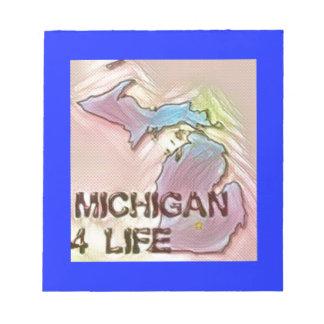 """Michigan 4 Life"" State Map Pride Design Notepad"