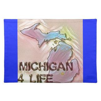 """Michigan 4 Life"" State Map Pride Design Placemat"