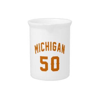 Michigan 50 Birthday Designs Drink Pitchers