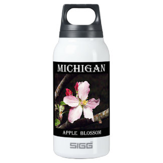 Michigan Apple Blossom Insulated Water Bottle
