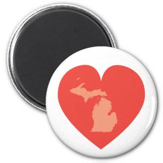 Michigan at Heart Magnet