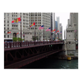 Michigan Avenue Bridge, Chicago, IL Postcard
