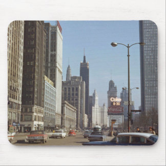 Michigan Avenue Chicago Illinois 1966 Street View Mouse Pad