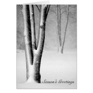 Michigan Blizzard Snow Covered Tree Greeting Card