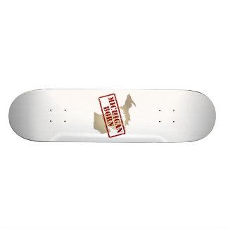 Michigan Born - Stamp on Map Skateboards