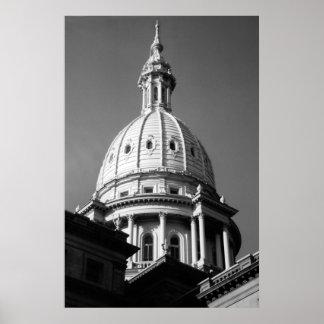 Michigan Capitol Building  Poster
