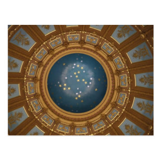 Michigan Capitol Rotunda Postcard