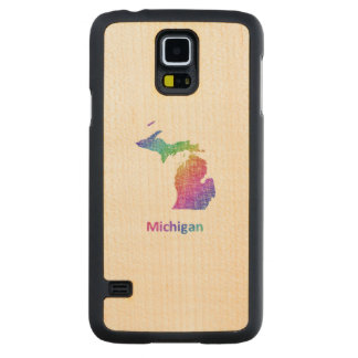 Michigan Carved Maple Galaxy S5 Case