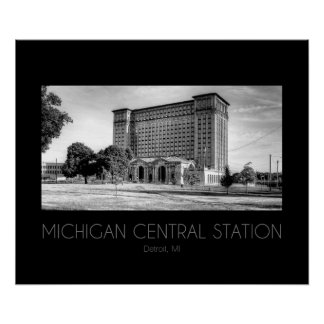 Michigan Central Station Poster