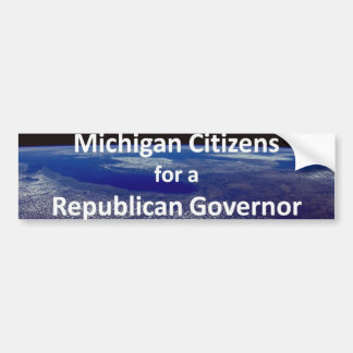 Michigan Citizens for a Republican Governor Bumper Sticker