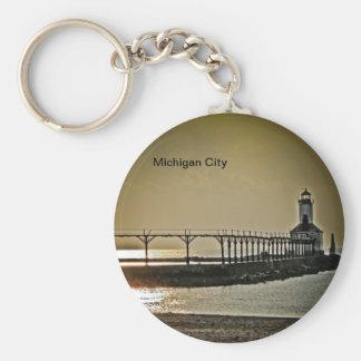 Michigan City Indiana Lighthouse Keychains