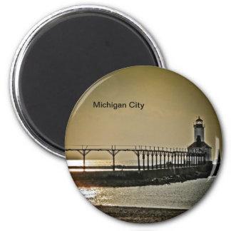 Michigan City Indiana Lighthouse Magnet