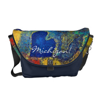 Michigan Colorful Painting Artwork Messenger Bag