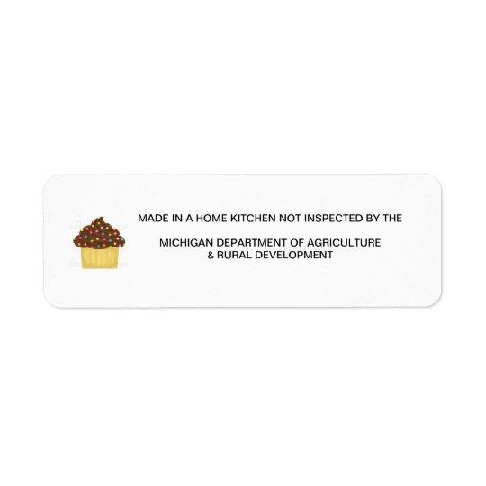 Michigan Cottage Food Law Label