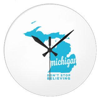 michigan | don't stop believing | sky blue clocks