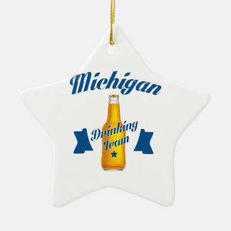 Michigan Drinking team Ceramic Star Decoration
