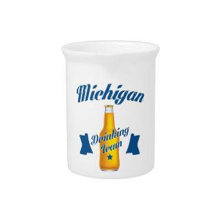 Michigan Drinking team Pitcher