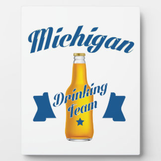 Michigan Drinking team Plaque
