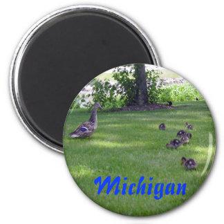 Michigan Ducklings Magnet