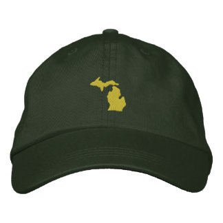 Michigan Embroidered Baseball Caps