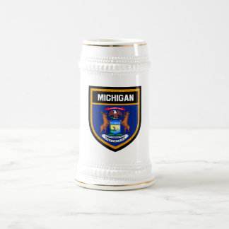 Michigan Flag Beer Stein
