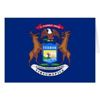 Michigan Flag Greeting Card