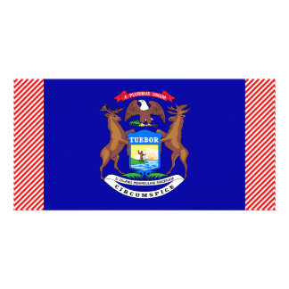 Michigan Flag Personalized Photo Card