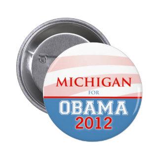MICHIGAN for Obama 2012 6 Cm Round Badge
