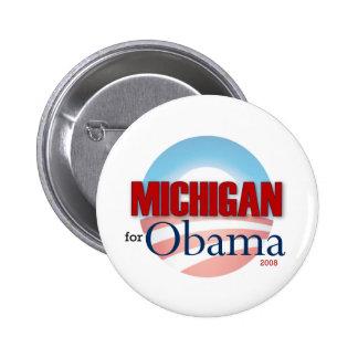 Michigan for Obama 6 Cm Round Badge
