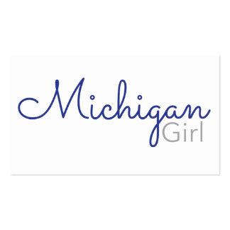 Michigan Girl business card