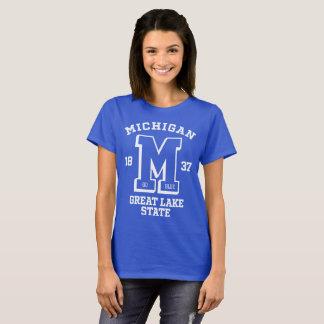 Michigan Go Blue College Women's Basic T-Shirt