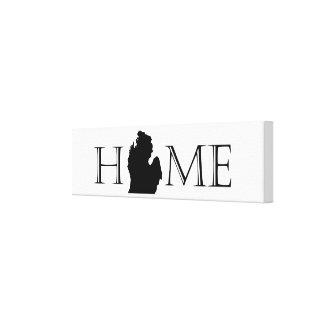 Michigan Home Canvas