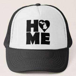 Michigan Home Heart State Ball Cap Trucker Hat