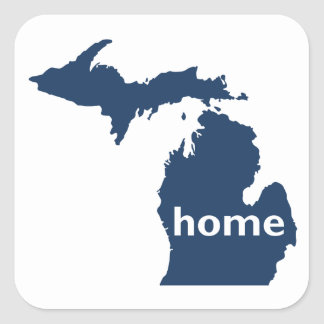 Michigan Home Square Sticker