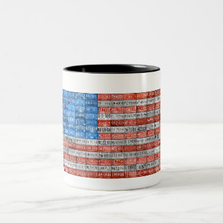 Michigan License Plate Flag Mug