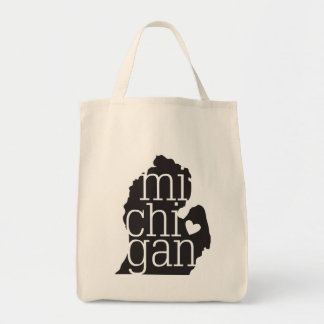 Michigan Love Grocery Tote Bag