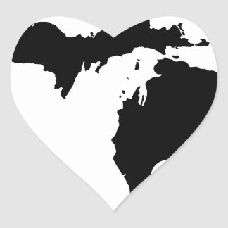 Michigan Love Heart Sticker