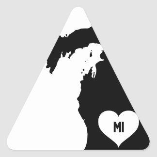 Michigan Love Triangle Sticker